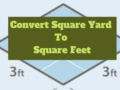 Convert Square Yard to Square Feet